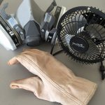 fan mask gloves